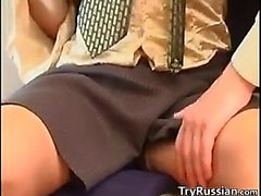 Russian Step Mother Wants Sex In Her Office