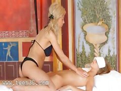 extremely erotic massage between blondes