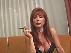 Busty mature Vanessa has a smoke before she smokes his cock
