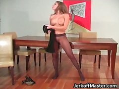 Cute and sexy brunette gets all wet