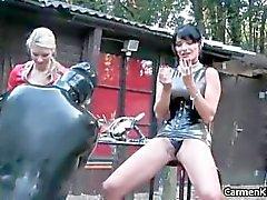 Dirty Carmen in hard core bdsm bdsm part5