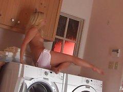 De jana Jordan en s'amusant des lessives