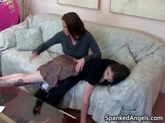 Young brunette skank gets bent over