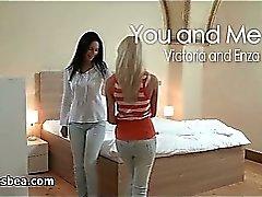 Nasty blonde and brunette lesbians get