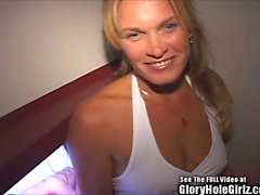 Sexy Slutwife Chilie takes on strange men in gloryhole