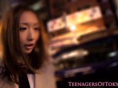Japanese teen railed hard in homemade video