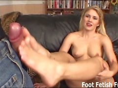 Let me give you a footjob with my sexy little feet