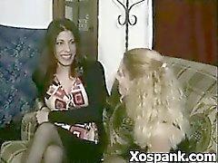 Weird Spanking Gal Sadomaniac Makeout