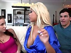 MILF Bridgette B shows teen couple how to fuck real good