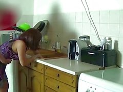 Step-mom force fucked and get creampie by step-son while she is stuck