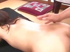 Erotic asian babe gets ass toyed