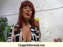 Interracial cougar hard sex 23