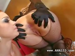 lezzs with sexy lingerie fisting anal