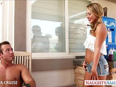 Pigtailed blondie Carter Cruise gets nailed