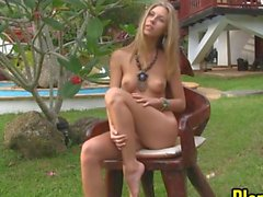 Blonde Does A Striptease In Thailand