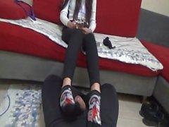 hornycams - japanese sockjob
