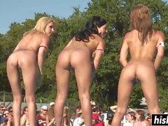 smoking hot babes get naked outdoors video