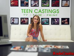 Alluring teen casted and roughfucked