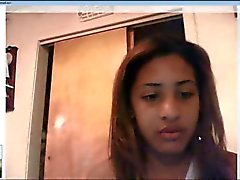 Luisana Santos on Webacam From the Dominican Republic
