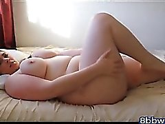 BBW Girl Touches to Orgasm