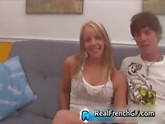 Hot french gf sucks boner and gets pussy part5