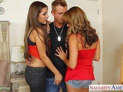 Hot chicks Ella Milano and Yurizan Beltran gets fucked
