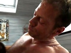 Hot mature threesome and cumshot