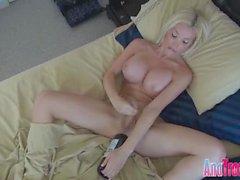 a bottle blonde shemale anus intruduce