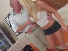 Persia and blonde fuck old guy