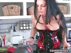 Boobed Carmen in incredible sexy bondage part6