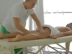 Excited with erotic nude massage Carre attack