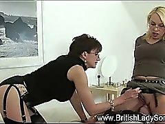 Mature milf gets toyed while getting oral