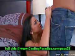 Audrey Bitoni busty brunette seducing and blowjobs