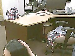 Wild cuban chick fucks for money back in my office