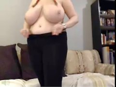 huge colossal tits jiggly swing and bounce , nipple squeezer