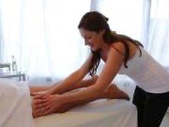 Masseuse ensures client satisfaction