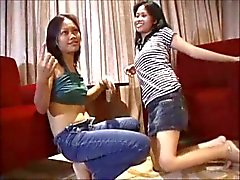 Threesome Asiatic Blowjob