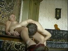 Sweetie Blonde Damsel Gets Drilled By An Older Man's Bone