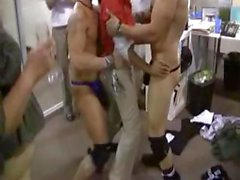 Office party gets seriously messed up as strippers pop out of nowhere