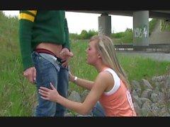 amateur german very risky public blowjob and cum swallow