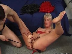 Very kinky blonde mature slut looks so nasty in those