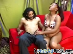 Reverse cowgirl ebony pregnant blowjob long cock