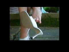 Shoeplay with her beautiful feet and toes POV