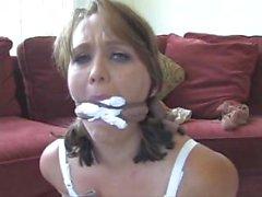 Layla pantyhose bound and gagged