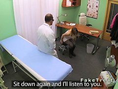 Euro patient sucking cock of doctor in an office