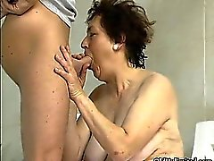 Dirty mature gets horny sucking
