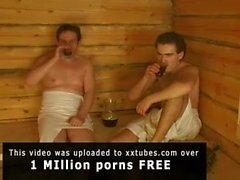 Steamy Russian sauna sex