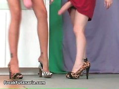 blonde hoe is so nasty in that red dress part6