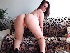 Hot Big Tits Teacher Toying Her Holes