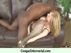Wild cougar milf gets banged by black 25